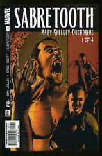SABRETOOTH MARY SHELLEY OVERDRIVE  #1-4 NEAR MINT COMPLETE SET 2002