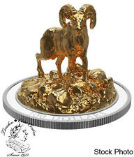 Canada 2017 $100 Sculpture Majestic Canadian Animals Bighorn Sheep Silver Coin