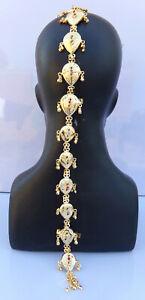 Ethnic Indian Wedding Hair Decoration Jewelry Gold Plated Choti Juda Pin Paranda