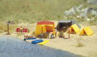 Busch 6026 - 1/87 / H0 Motiv Set Ein Kleiner Campingplatz - Neu
