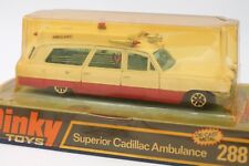 DINKY TOYS 288  * SUPERIOR CADILLAC AMBULANCE  * OVP * 1:36 * BUBBLE BOX