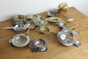 Vintage job lot tea strainers Inc Silver EPNS Macleods WFN