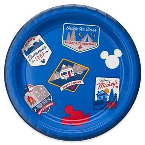 Disney Mickey Mouse Party Decorations Tableware Happy Camper BBQ Summer Picnic
