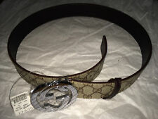 Gucci Belt Interlocking G Buckle Leather Size 30-32
