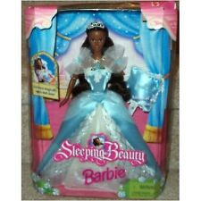 Black Afro-American Sleeping Beauty Barbie with Musical Pillow 1998