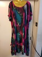 Plus Size 30-32 Summer Gorgeous  Lagenlook stunning Maxi Dress Fit 5XL