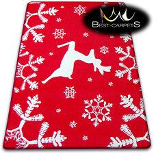 CHRISTMAS RUGS 'XMAS' CARPETS X-Mas Tree Carpet Raindeer Santa Claus Snow Stars