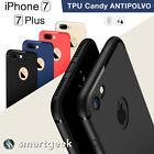 FUNDA TPU Gel ANTIPOLVO para iPHONE 7 iphone7 Plus logo colores camara case dust