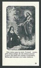 image pieuse ancianne de Santa Maria de Alacoque santino holy card estampa