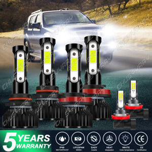 For 2013-2016 Nissan Pathfinder 6X 6000K LED Headlight Bulb Hi/Lo+Fog Light