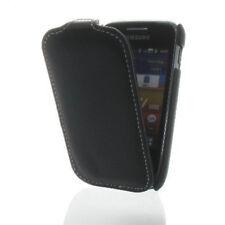 Custodia Premium Flip Ecopelle per Samsung s6102 GALAXY Y DUOS NERA GUSCIO CAS