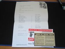 1993 YOUTH FRIENDLY AJAX v LEEDS UNITED ( TEAM SHEET,TICKET,MATCH REPORT )