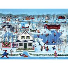 SUNSOUT JIGSAW PUZZLE WINTER SAMPLER SHEILA LEE 1000 PCS AMERICANA #61370