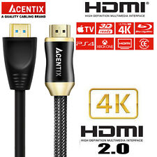 20 M Cable Trenzado Ultra Hd Hdmi v2.0 Highspeed HDR HDTV 2160p Arc 4K Dorado Negro