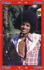 Michael Jackson 4 telefoonkaarten/télécartes  (MJ68 4p)