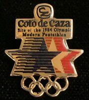 Rare Vintage 1984 Los Angeles Summer Olympics Coto de Caza Lapel Pin! WPIN171