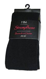 2 Damen-Strumpfhosen Strick-Strumpfhosen mit Baumwolle handgekettelt Gr. 38 - 46