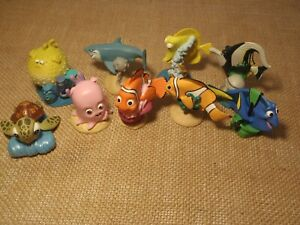 """Disney Finding NemoFigures 3/"""" Figurines Toys cake cupcake toppers NEW set of 4"""