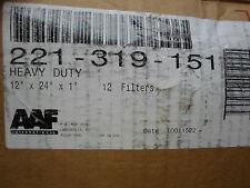 """Qty = 12: Aaf 221-319-151 Heavy Duty Air Filters 12"""" x 24"""" x 1"""" slightly handled"""