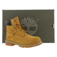 Timberland 6 Inch Premium Juniors Womens Wheat Waterproof Boots 12909 Size 3-6.5