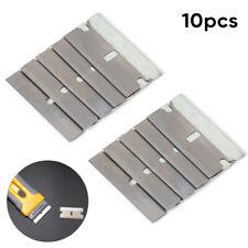 10 Metal Razor Scraper Blades Single Edge Box Cutter Car Window Glass 40mm