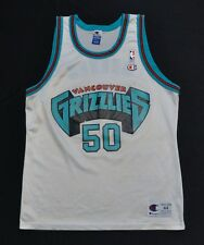 BRYANT REEVES VANCOUVER GRIZZLIES Champion Jersey White 44 Large 484d4fbe4