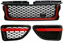 Range Rover Sport 2005-2009 Grille Grill & Side Vents Black Red Autobiography(D)
