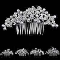 Hair Ornaments Crystal Hair Comb Wedding Bride Hairpin Rhinestone Hair Clip