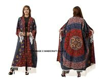Women Mandala Floral Beach Kimono Blouse Cotton Cardigan Shawl Cover up Tops