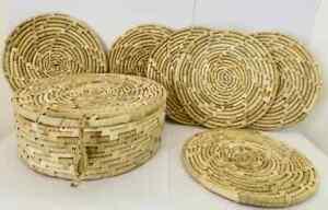 Handmade Basket & Table Mats Cane Rattan Traditional Decorative Gift 2021