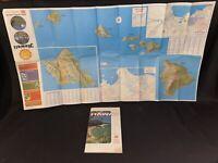Vintage 1970's Gousha Honolulu & Hawaii Travel Road Map-Box Aaa 1971 1974 Book