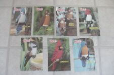 Rare Set of 7 Annie's Attic 1983 Birds of Feather crochet patterns Robin Blue +