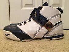 Nike Zoom LEBRON V 5 USA, 317253-141, 2007, Olympic White / Navy, Men's Size 12