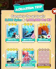 Coin Master New set Cards Aquarium Trip set White Cards(5 cards)