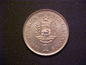 1989 Venezuela 1 Bolivar - Very Nice Choice BU Collector Coin! - d3533xcx