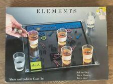 "NIB ELEMENTS ""SHOTS AND LADDERS GAME SET"" - BRAND NEW - GLASS"