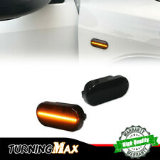 9-LED Amber Front Fender Smoked Lens Side Marker Lights For VW Golf Jette Beetle