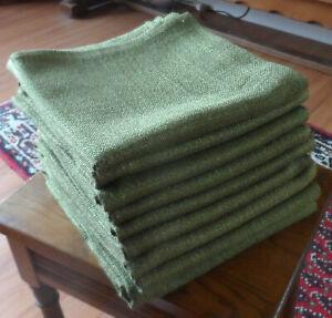 9 Tischdecken 80x80 cm, grün/oliv, gebr.,guter Zustand, aus Gastrobedarf