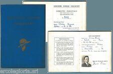 PARACHUTING vintage document  TESSERA D'EPOCA - ASSOCIAZIONE PARACADUTISTI 1960