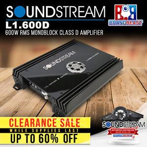 Soundstream L1.600D 600W RMS Monoblock Class D Amplifier