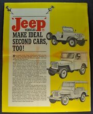 1961 Jeep Sales Brochure Mailer CJ-5 Pickup Truck Station Wagon FC-170 Orig 61