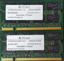 Infineon 1GB ( 2 x 512MB) PC2700S DDR SODIMM