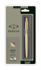 Parker JOTTER Gold Trim GT Ball Point Pen, Blue Ink, Fine Tip, New, Jotter