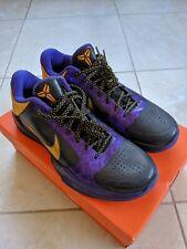 Nike Zoom Kobe 5 V Del Sol Lakers Size 10 386429-071