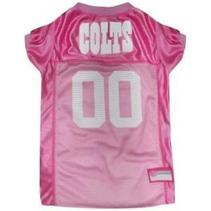 Pets First INDIANAPOLIS COLTS PINK PET JERSEY Size:Large