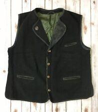 Julius Lang Men's Wool Nylon Cashmere Blend Vest Sz D 60 GB 50 Embroidery