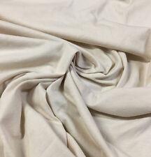 Organic Cotton Jersey Knit Fabric Ecofriendly OEKO Certified 7 oz Natural