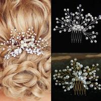 Fiore matrimonio capelli pin pettine bridalo clip cristallo damigella Accessori