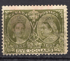 CANADA 1897 Jubilee $5 used SG 140 Sc 65 no thins or tears