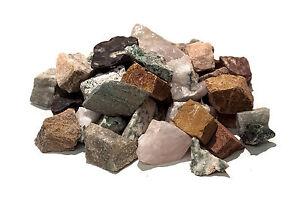 Stone tumbling Rock - 1kg MIXED Lapidary Rough Rock - ✔100% Genuine ✔UK Seller